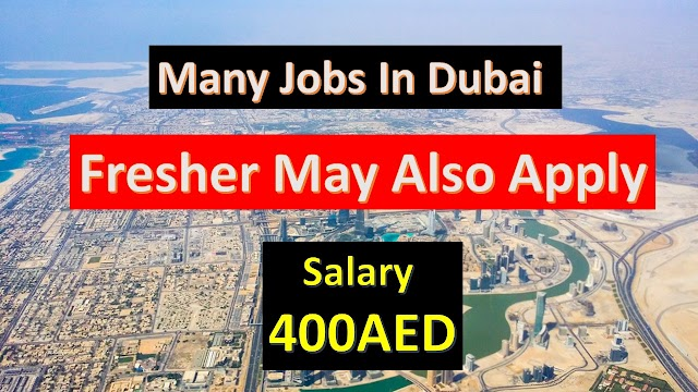 Jobs In Dubai | Fresher Can Also Apply | Dubai Jobs |