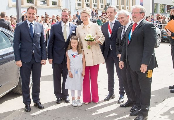Hereditary Grand Duke Guillaume and Hereditary Grand Duchess Stephanie visited Esch-sur-Alzette, the day before the 2018 National Day