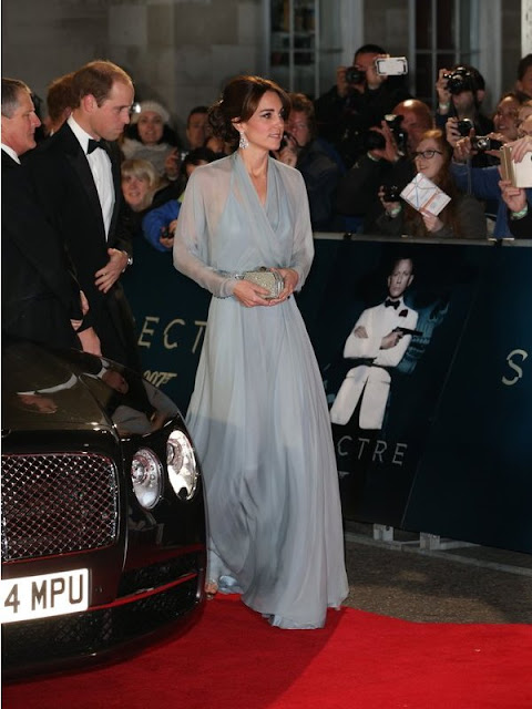 Prince William, Duke of Cambridge, Catherine, Duchess of Cambridge and Prince Harry attend the Royal World Premiere of 'Spectre' at Royal Albert Hall