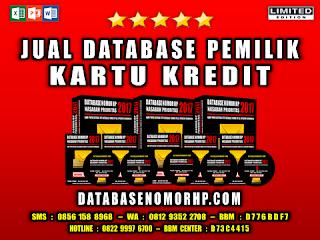 Jual Database Kartu Kredit