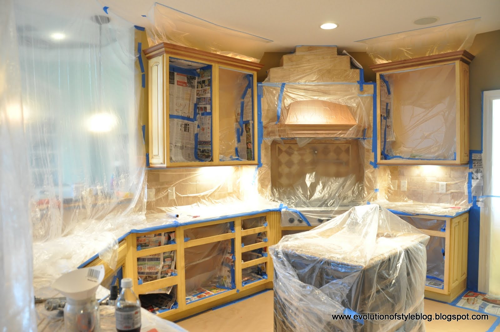 Spraying Kitchen Cabinets Lowes Remodel Reviews How To Paint Your Like A Pro