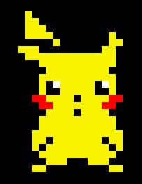 Minecraft Pixel Art Building Ideas Pikachu Pixel Art