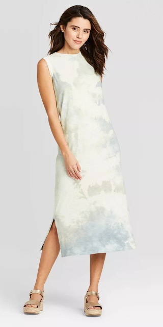 Women's Sleeveless Tie Dye Midi Dress