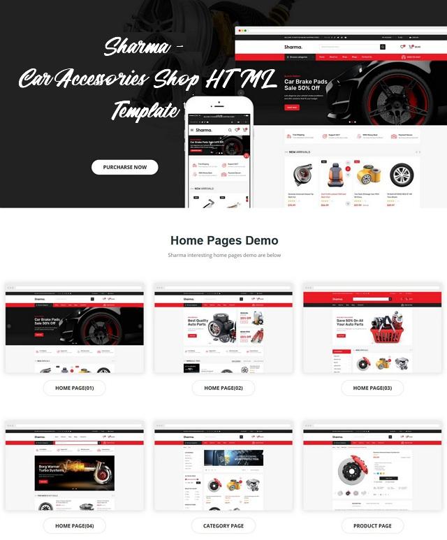 Car Accessories Shop HTML Template
