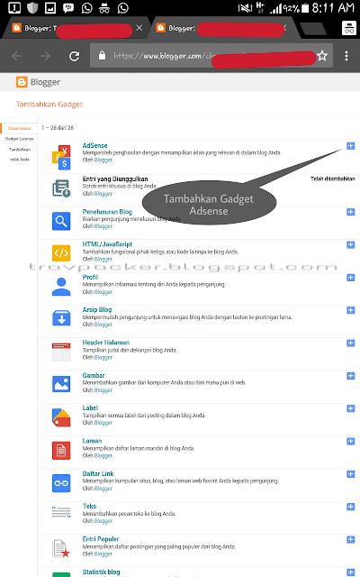 Langkah Cara Memasang Iklan Google Adsense di Travel Blogger
