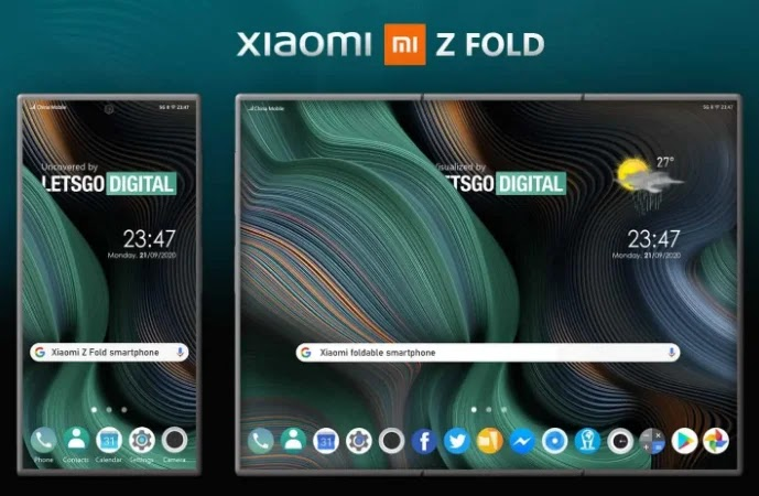XIAOMI FOLDABLE PHONE  Z FOLD DESIGN