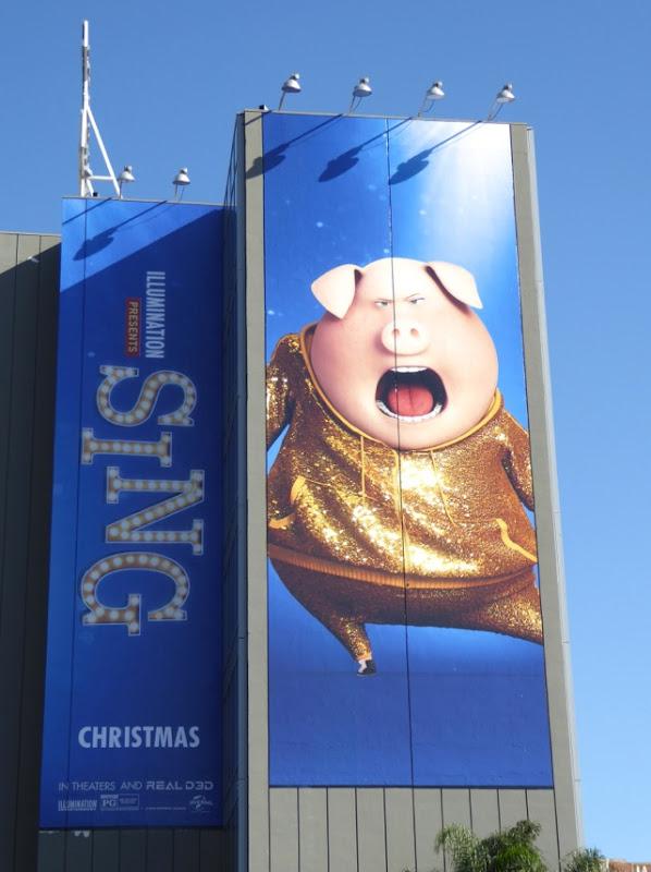 Giant Sing movie billboard