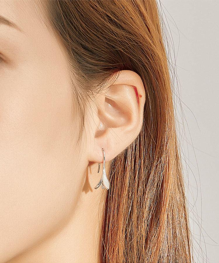 優雅百合花 925純銀耳環