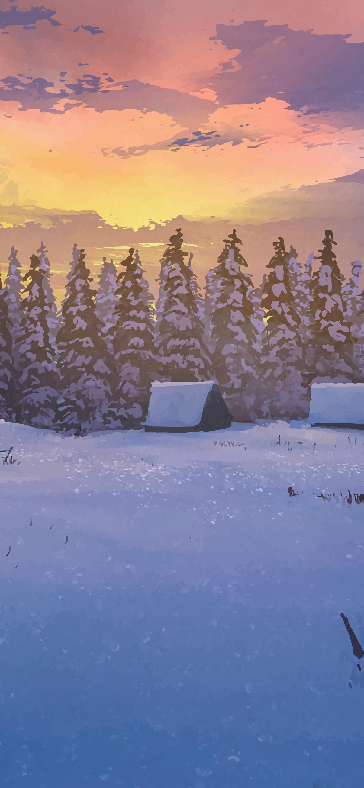 beautiful snow winter wallpaper phone