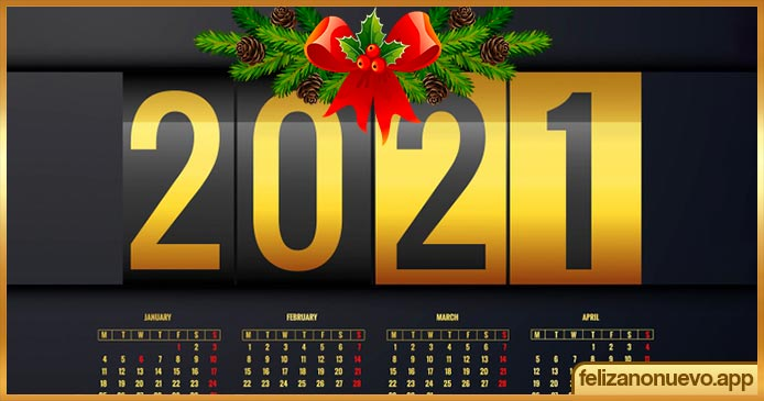 Calendarios del año 2021 para imprimir