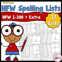 High Frequency Spelling Lists