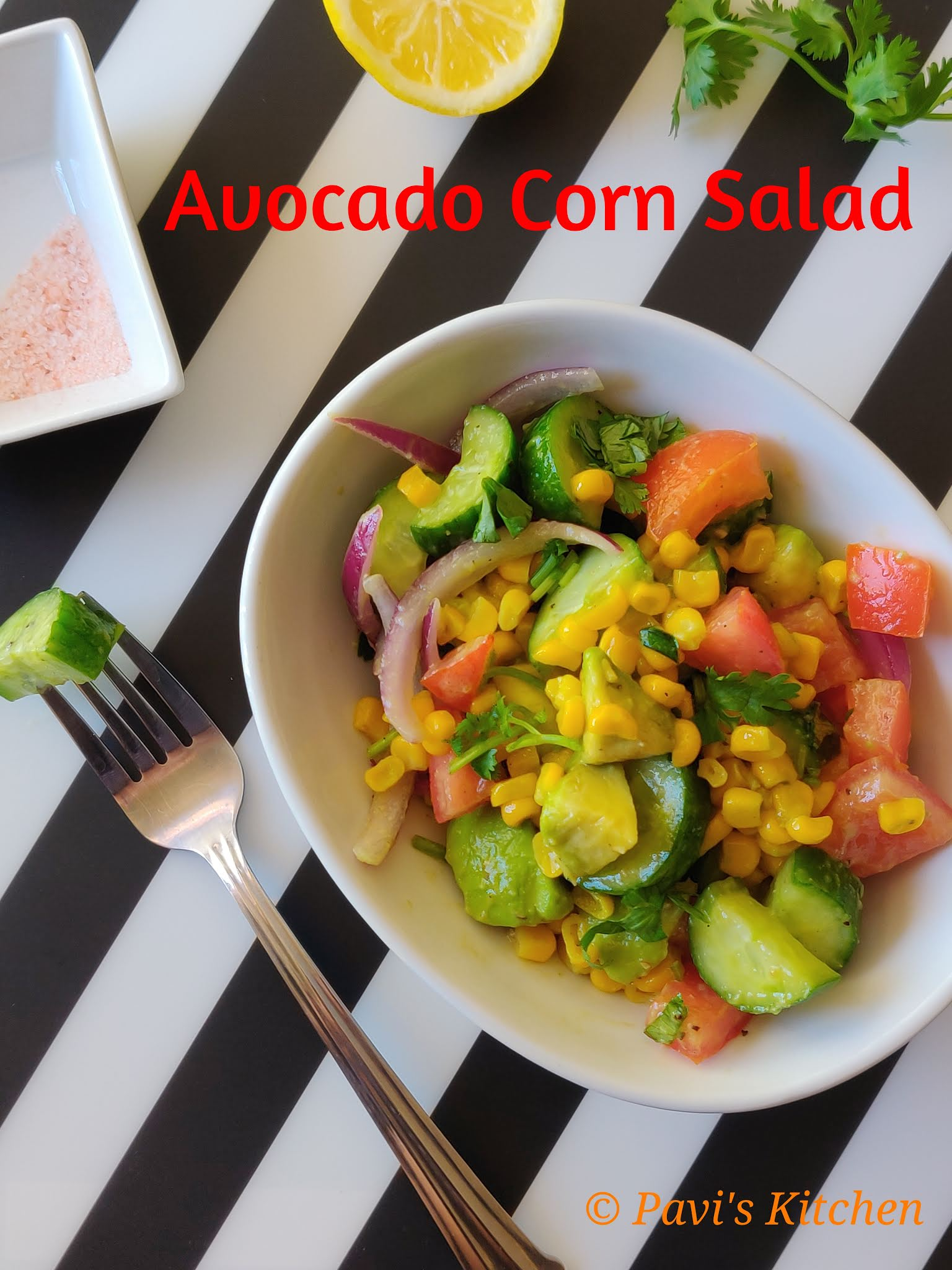 Butter Fruit Salad Recipe | Avocado Salad Recipes Indian Style