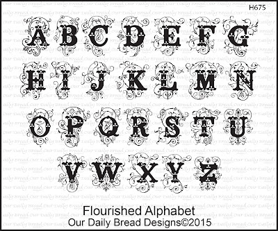 Our Daily Bread Designs Stamp set - Flourished Alphabet