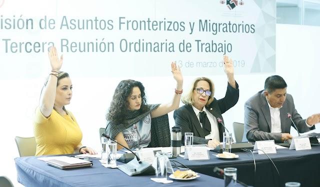 Aprueba Comisión que Senado haga enérgico rechazo a política migratoria de EU