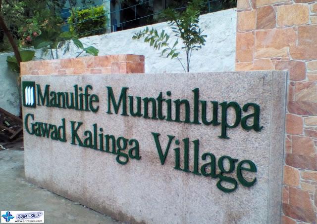 Acrylic Letters - Manulife Muntinlupa Gawad Kalinga Village