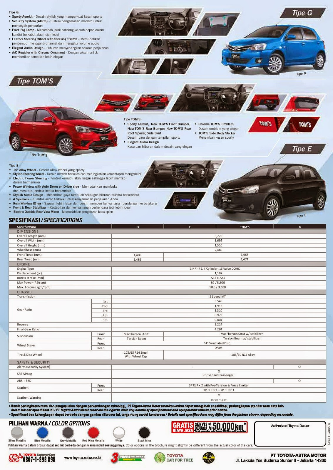 Brosur dan gambar New Toyota Etios Valco TOM'S 2015