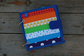 Rainbow buckles quiet book