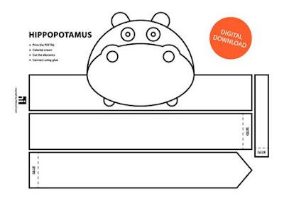 descarga gratis corona máscara de hipopótamo
