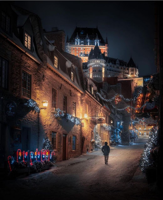 Old Town at midnight