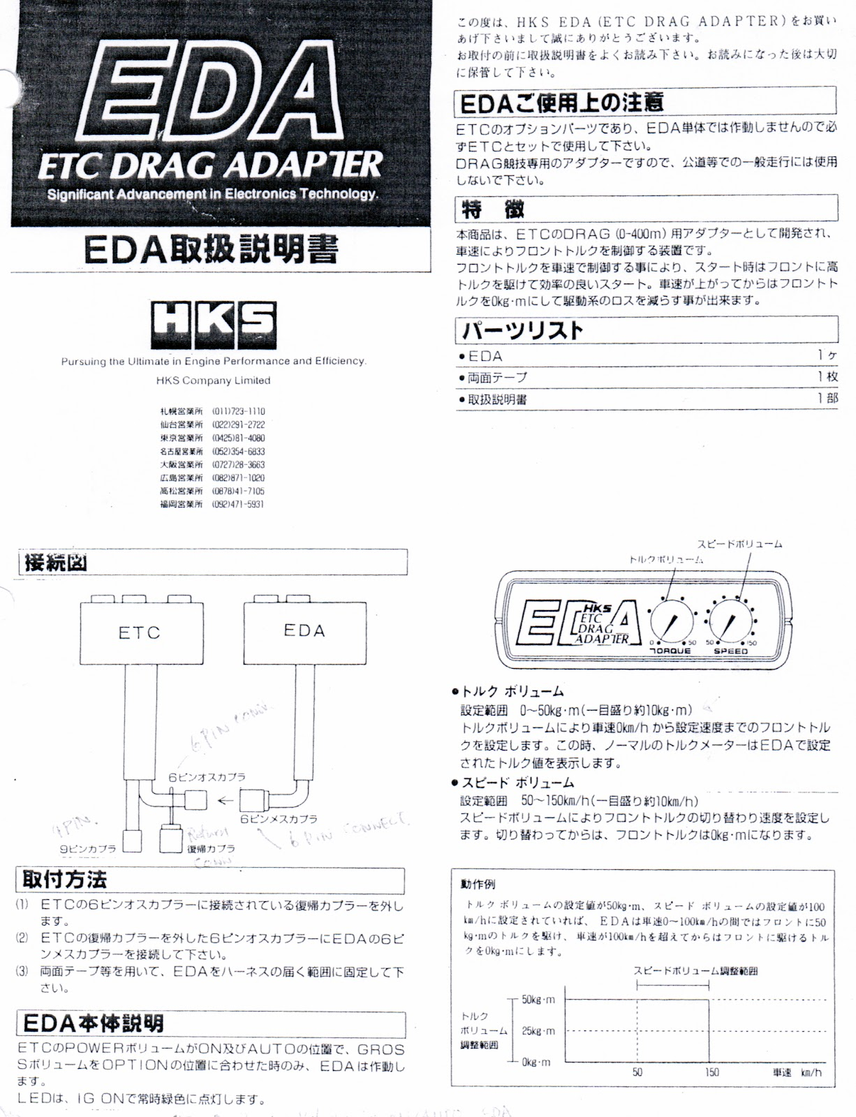 Hks Etc And Eda Drag Adapter Instructions