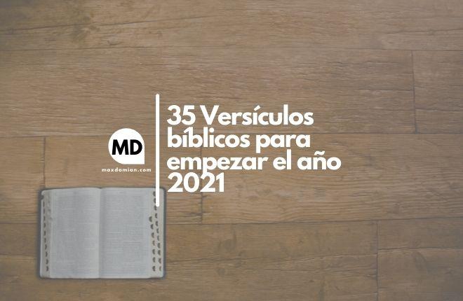 Versículos bíblicos para empezar el año