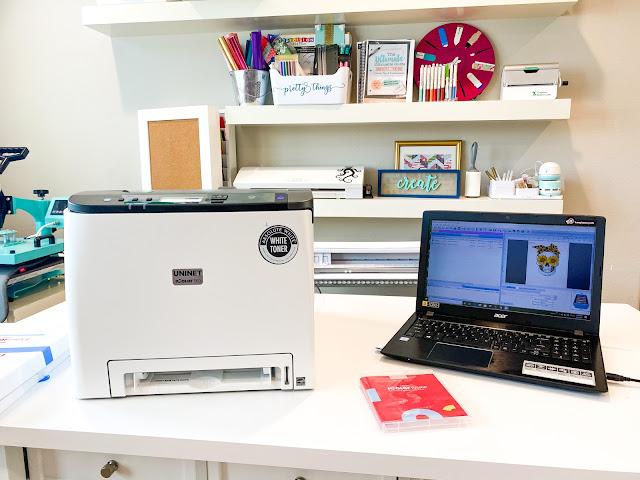 white toner printer, uninet icolor, printable materials, printer issues, printer unboxing