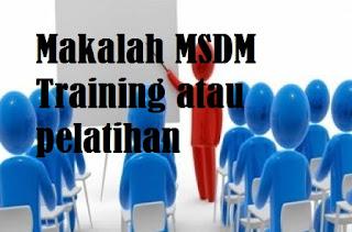 Makalah MSDM Training atau pelatihan
