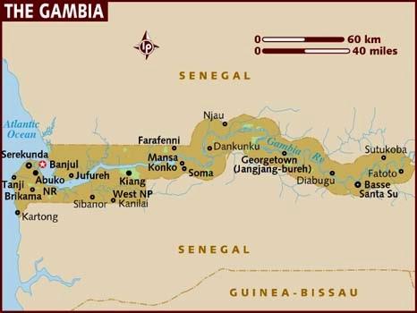 Peta Negara Gambia