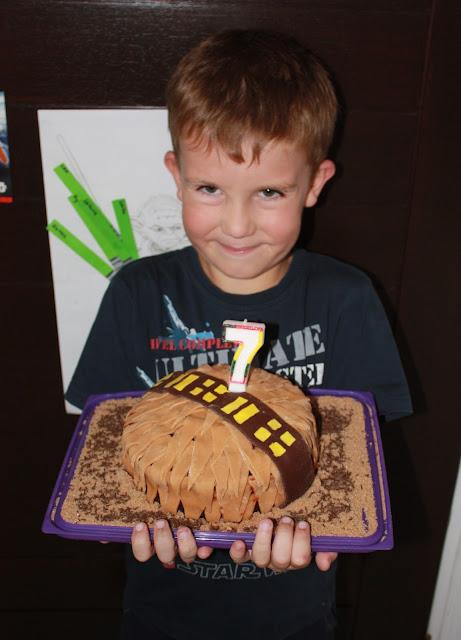 Star wars party birthday cake