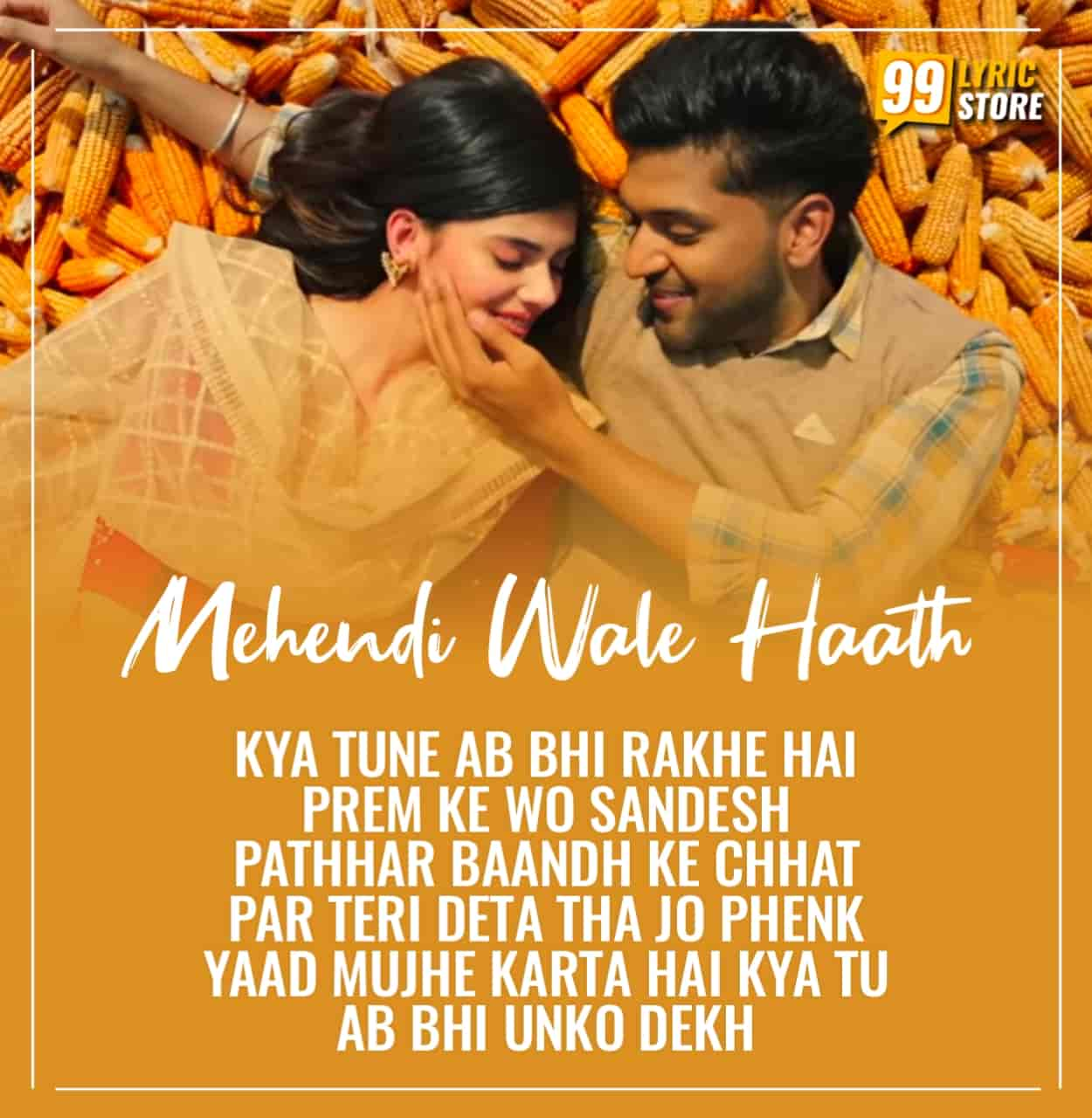 A very talented iconic punjabi artist Guru Randhawa come back again with a beautiful song which is titled Mehendi Wale Haath which is about a army men life, sung by him.