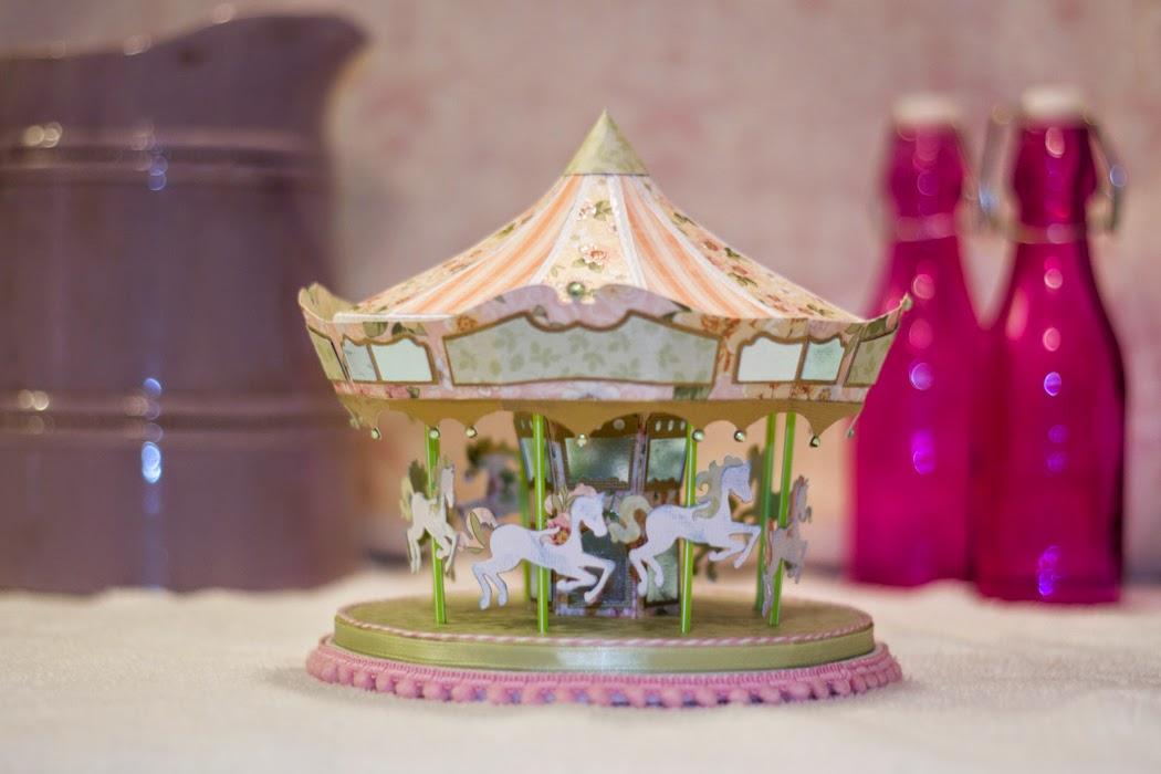 3d paper carousel