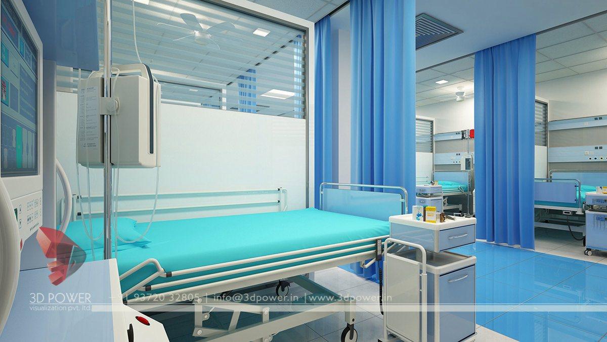Hospital 3d Interior Design & Modern Hospital Architecture   Hospital   Healthcare Design ...