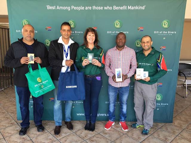@SamsungSA Donates #Smartphones To @GiftoftheGivers