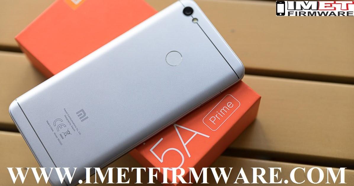 Xiaomi Redmi Note 5A Prime Flash File Firmware Stock Rom - IMET