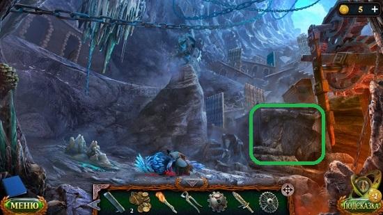 устанавливаем все части разрушенной лестницы в игре затерянные земли 5