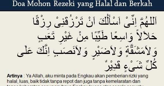 Doa Mohon Rezeki Berkah yang Tak Terduga dan Melimpah Ruah