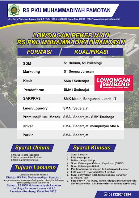 Lowongan Kerja RS PKU Muhammadiyah Pamotan