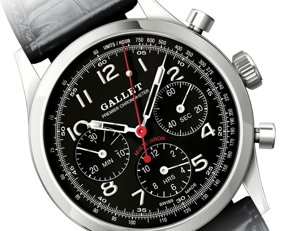 Gallet Heritage Edition Auto Racing Chronograph Time