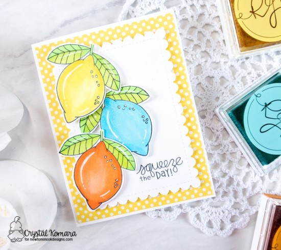 Squeeze the day by Crystal features Lemon Twist by Newton's Nook Designs; #newtonsnook
