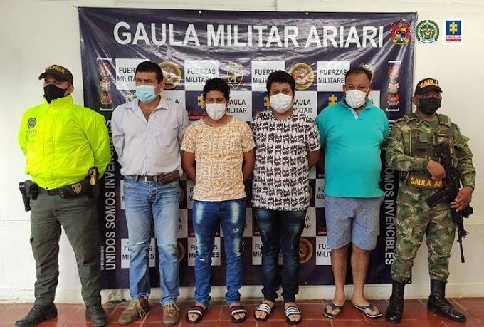 Envían a la cárcel a sujetos que al parecer secuestraban a finqueros y les robaban el ganado en Puerto Lleras