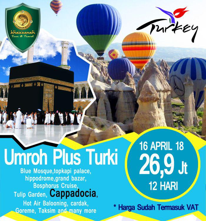 Paket umroh plus Turki April 2018