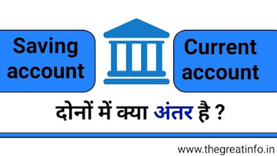 saving account vs current account in Hindi