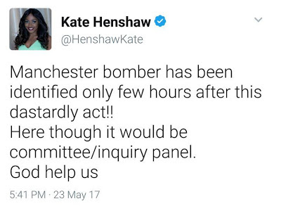 'If It was my Country, It Would Be Committee/ Inquiry Panel' - Actress Kate Henshaw Reacts To The Prompt Identification of The Manchester Bomber