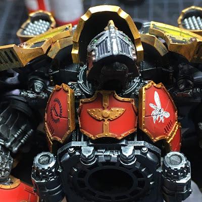 Adeptus Titanicus Legio Ignatum Warlord Titan WIP - chest detail