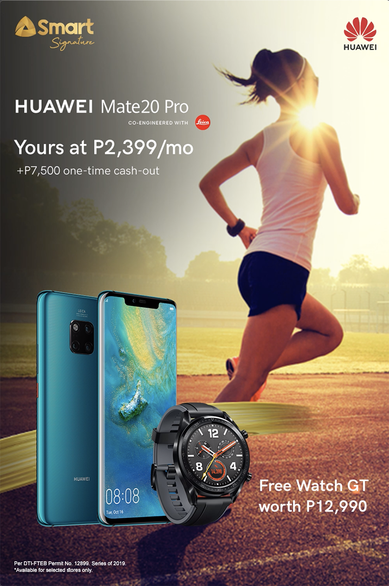 Smart's poster for the Huawei promotion
