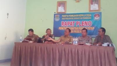 Desa Pasilian Gelar Rapat Pleno DPT Jelang Pilkades Serentak