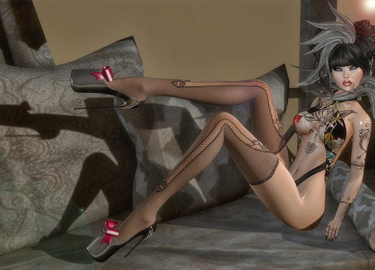China Girl: BlackLace, Continuum Fashion , Firelight, Zibska, K-tarsis