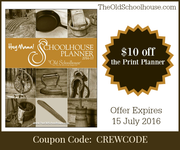 Hey Mama! Schoolhouse Planner, Coupon code