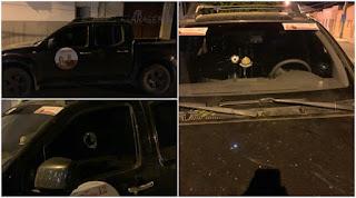 Carro de candidata a prefeita de Condado e alvejado a tiros na noite desta sexta-feira (23)