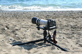 Heavy Duty Long Lens Support Bracket at beach ground position